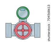 pipes plumbing design | Shutterstock .eps vector #704568613