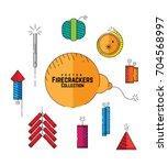 set of vector firecrackers...
