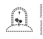 gravestone icon image | Shutterstock .eps vector #704569603
