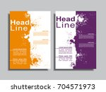 flyers report brochure cover... | Shutterstock .eps vector #704571973