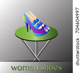 women shoes high heels | Shutterstock .eps vector #704604997