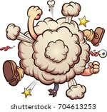 cartoon brawl cloud. vector... | Shutterstock .eps vector #704613253