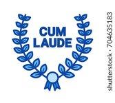 laurel wreath vector line icon... | Shutterstock .eps vector #704635183