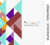 triangle pattern design... | Shutterstock .eps vector #704639863
