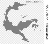 high quality map of central... | Shutterstock .eps vector #704644723