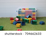 large building blocks in bright ... | Shutterstock . vector #704662633