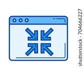 collapse vector line icon... | Shutterstock .eps vector #704666227