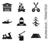 woodworking icons set. simple...   Shutterstock .eps vector #704667013