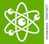 atom with electrons icon white