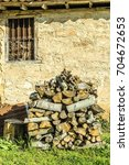 Small photo of wooden heap for chimney