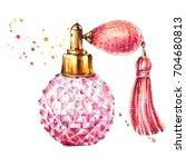 vintage perfume bottle | Shutterstock . vector #704680813
