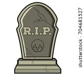 isolated tombstone icon on a... | Shutterstock .eps vector #704681527