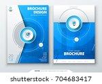 cover set. blue template for... | Shutterstock .eps vector #704683417