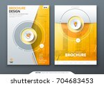 cover set. yellow template for... | Shutterstock .eps vector #704683453