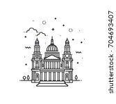 vector illustration of st paul...   Shutterstock .eps vector #704693407