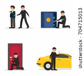 thieves characters set  vector... | Shutterstock .eps vector #704715013