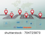 business road map timeline... | Shutterstock .eps vector #704725873