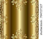 baroque gold seamless frame... | Shutterstock .eps vector #704727127