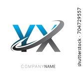 initial letter yx logotype... | Shutterstock .eps vector #704729557