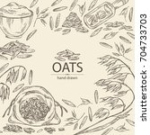 Background With Oats  Plate An...