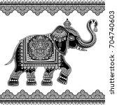 vintage graphic vector indian...   Shutterstock .eps vector #704740603