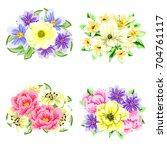 flower set | Shutterstock . vector #704761117