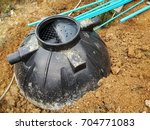 set up sewage treatment tank... | Shutterstock . vector #704771083