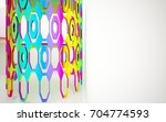 abstract dynamic interior with...   Shutterstock . vector #704774593