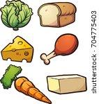 cartoon food items. vector clip ... | Shutterstock .eps vector #704775403
