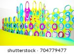 abstract dynamic interior with...   Shutterstock . vector #704779477