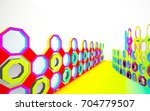 abstract dynamic interior with...   Shutterstock . vector #704779507