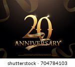 20 year anniversary celebration ... | Shutterstock .eps vector #704784103