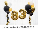 decoration for 83 years...   Shutterstock . vector #704802013