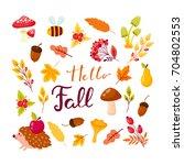 fall festival template. bright... | Shutterstock .eps vector #704802553