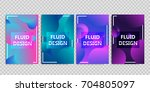 vector set of realistic... | Shutterstock .eps vector #704805097