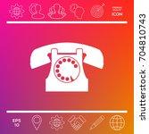 retro telephone symbol | Shutterstock .eps vector #704810743