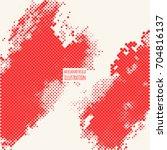 red grunge effect. overlay... | Shutterstock .eps vector #704816137