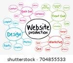 diagram of website production... | Shutterstock .eps vector #704855533