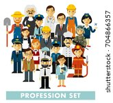people occupation characters... | Shutterstock .eps vector #704866357