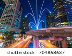 smart city and internet line in ... | Shutterstock . vector #704868637