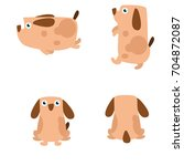 variation of cute dog buddy pet ... | Shutterstock .eps vector #704872087