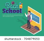 back to school poster with... | Shutterstock .eps vector #704879053