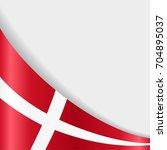 danish flag wavy abstract... | Shutterstock . vector #704895037