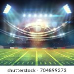 american football stadium 3d. | Shutterstock . vector #704899273