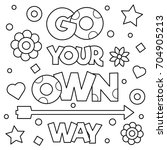 go your own way. coloring page. ...