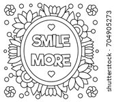 Smile More. Coloring Page....