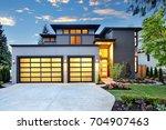 beautiful exterior of... | Shutterstock . vector #704907463