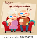grandparents day greeting card. ... | Shutterstock . vector #704908897