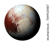 dwarf planet pluto isolated on... | Shutterstock . vector #704910487