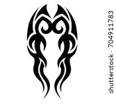 tribal tattoo art designs.... | Shutterstock .eps vector #704911783